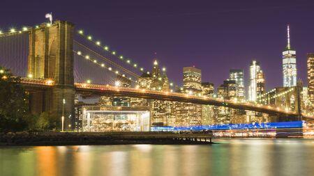 une vue magnifique sur le Lower Manhattan et le pont de Brooklyn