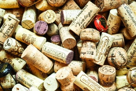 Box of wine corks  photo