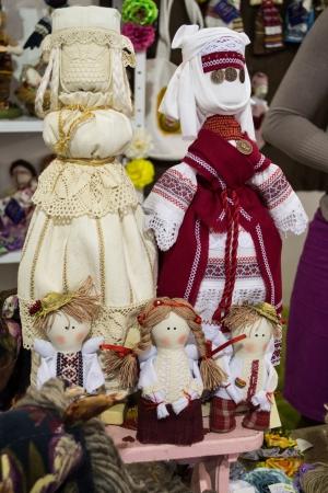 collectible: collectible Ukrainian folk dolls Stock Photo