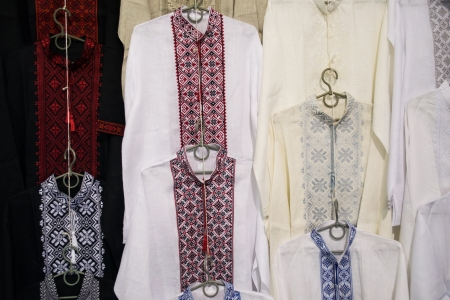 Ukrainian embroidered shirts photo