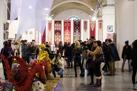 Mystetskyi arsenal exhibition of modern and contemporary art  Kiev, 16 March, 2013 Art Masliana  Editorial