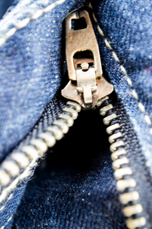 close-up view of the rack of blue jeans Stock Photo - 18902235