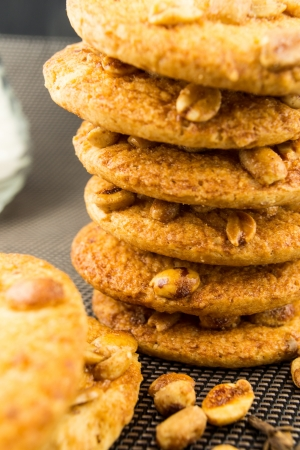 baked peanut butter cookies photo
