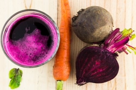 Closeup of Fresh Red Beet Juice Stock Photo