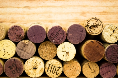 Background of Various Used Wine Corks close up photo