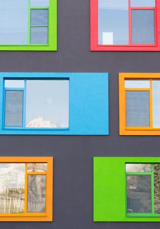 Colorful Modern Windows  Foto de archivo