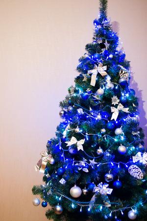 hearthside: Christmas tree background. Blue toned