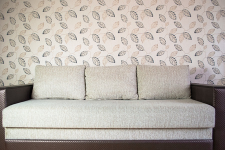 modern sofa in an interior room view photo