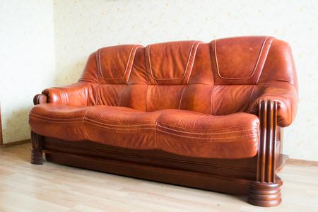 interior architecture: Living room Interior design.Brown leather sofa