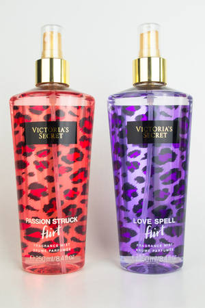 secret love: A spray bottle of Victorias Secret passion struck and love spell fruit