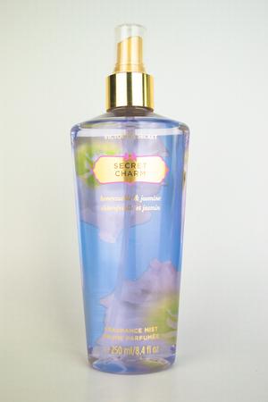 women  s fashion: A spray bottle of Victorias Secret secret charm Editorial