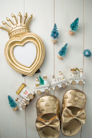 Greeting heart frame for princess girl