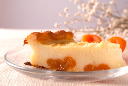 Piece of french dessert Stock Photo