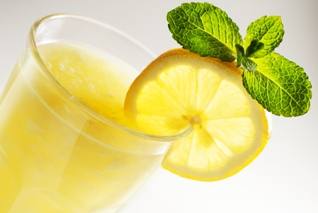 quencher: Lemonade with mint Stock Photo