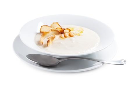 Plate of cream soup Reklamní fotografie