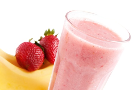 smoothies: Licuado de fresas de pl�tano