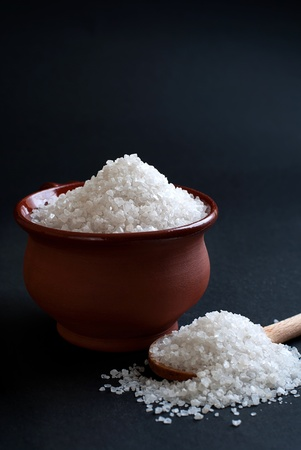 see salt in bowl photo