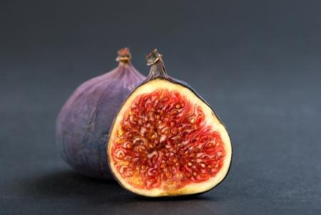 closeup of fig fruit