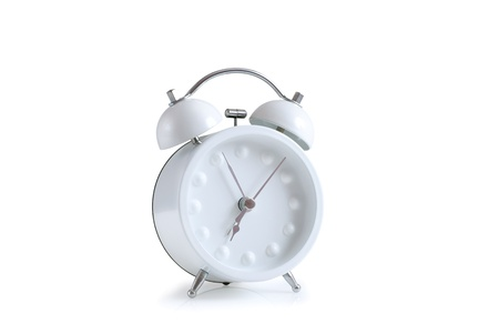 white retro styled alarm clock photo