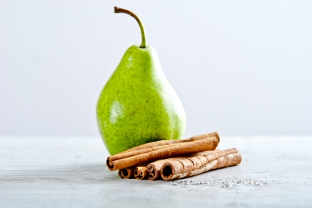 cinnamon stick: peas with cinamon  Stock Photo