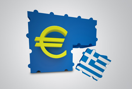 conjuncture: Puzzle showing Greece removed from the Euro Currency Union