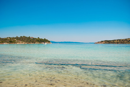 sithonia: Lagonisi beach on Sithonia peninsula, Halkidiki, Greece
