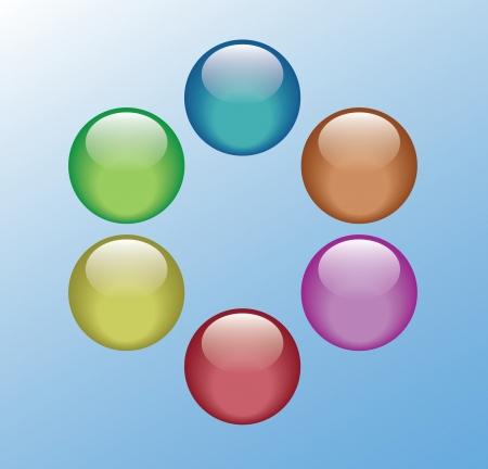 Gloosy button Stock Vector - 24020184