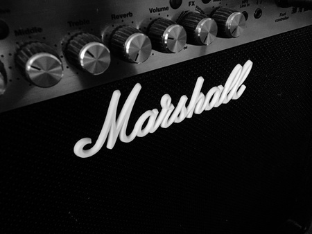 amplifier: Marshall amplifier Stock Photo