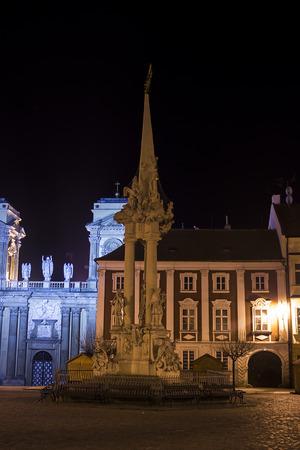 allegoric: Holy Trinity column in Mikulov - Czech Republic