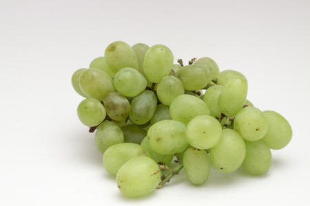heathy diet: Fresh grapes on a white background Stock Photo