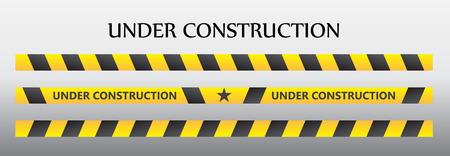 dangerous construction: Under construction Illustration