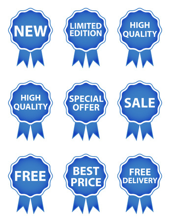 free background: Shopping tags - Blue