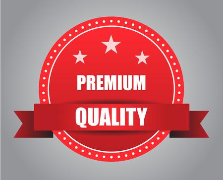 warrants: Red badge - premium quality Illustration