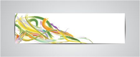 watercolour background: Bookmark, label or banner and watercolor design Illustration