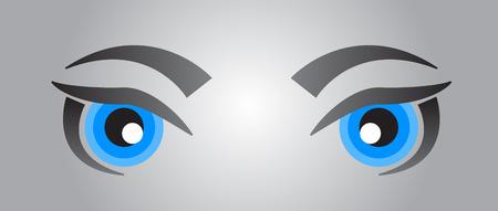blue eyes: Blue eyes Illustration
