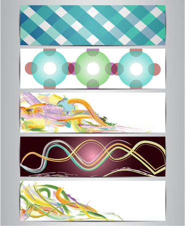 deisgn: Abstract bookmark, label or banner set