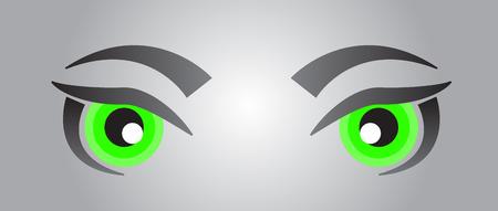 green eyes: Green eyes