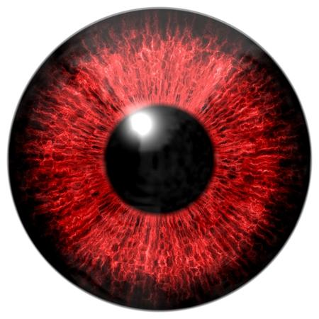 red eye: Dark red eye Stock Photo