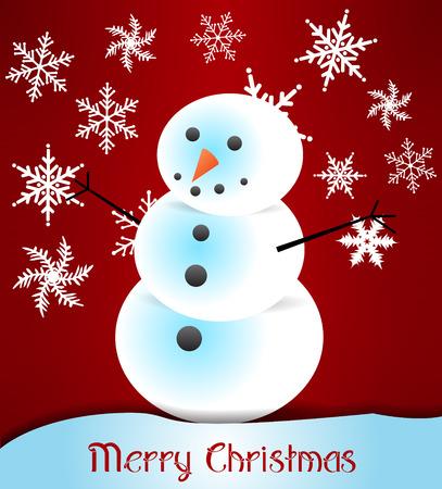 postcard: Snowman - postcard Illustration