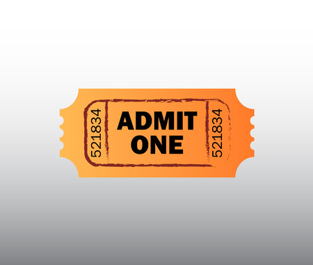 admit one: Retro cinema ticket - Admit one ticket