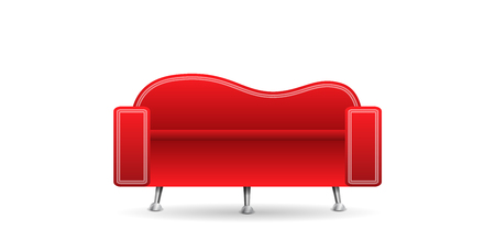 red sofa: Red sofa isolated on white background Illustration