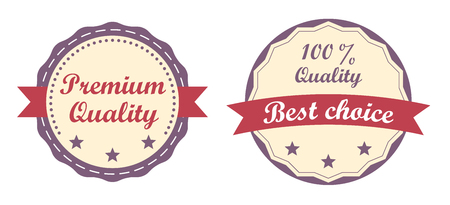 best quality: Modern badge, Premium quality, 100 Quality and Best choice