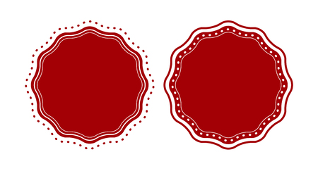 silver circle: Red badge set template