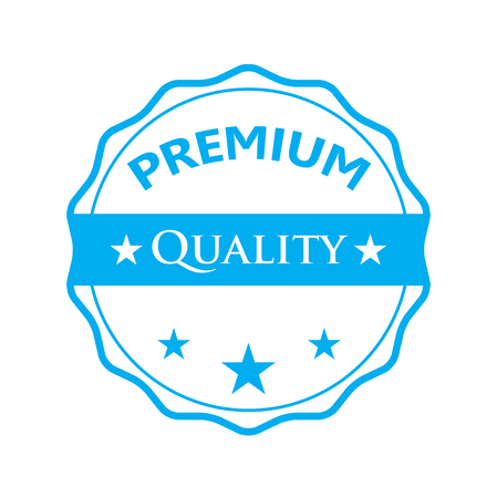 web icons: Blue badge - Premium quality
