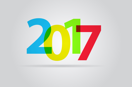 happy new year text: Happy new year 2017, colorful text