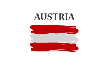 austrian flag: Austrian flag Illustration