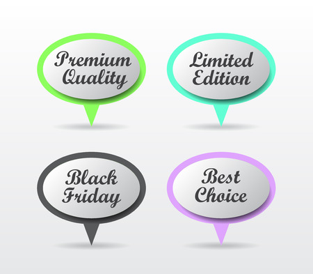 edition: Speech bubbles - Premium quality, Limited edition, Black Friday, Best choice
