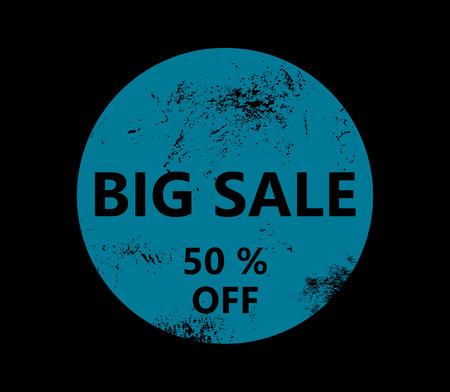 50 off: Big sale - 50 % off - Blue badge