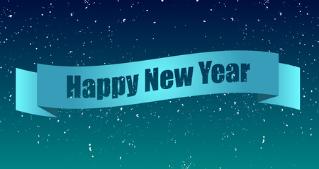 happy new year text: Label with text Happy New Year Illustration