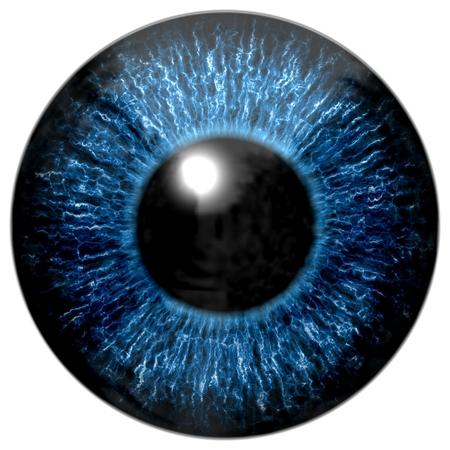 retina: Blue eye Stock Photo